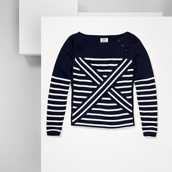 Striped sweater from Gigi Hagid collection for Tommy Hilfiger