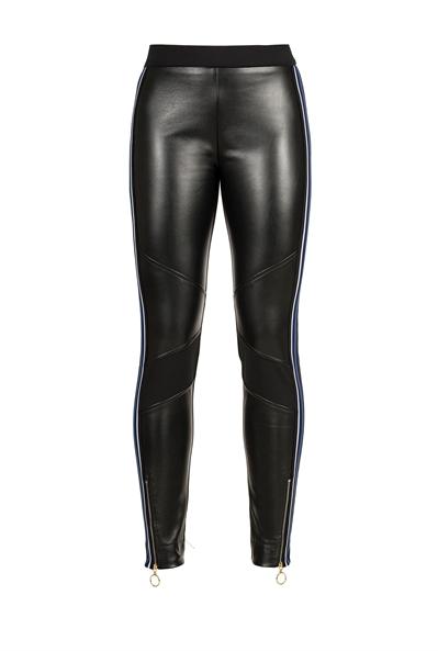 Pinko elastic leather-like pants