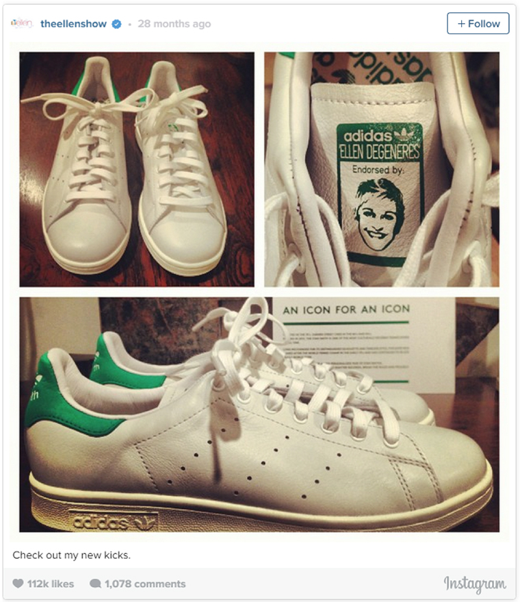 ellen degeneres stan smith