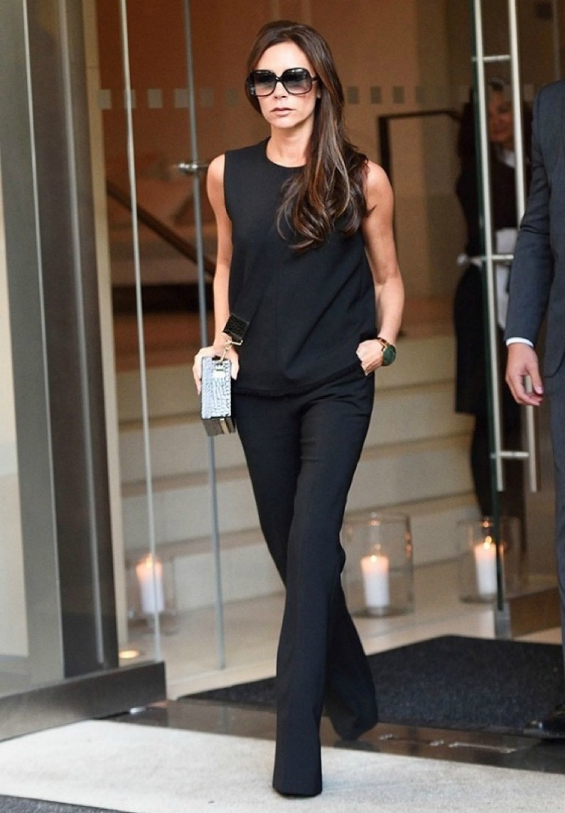 Victoria Beckham in a loose outfit