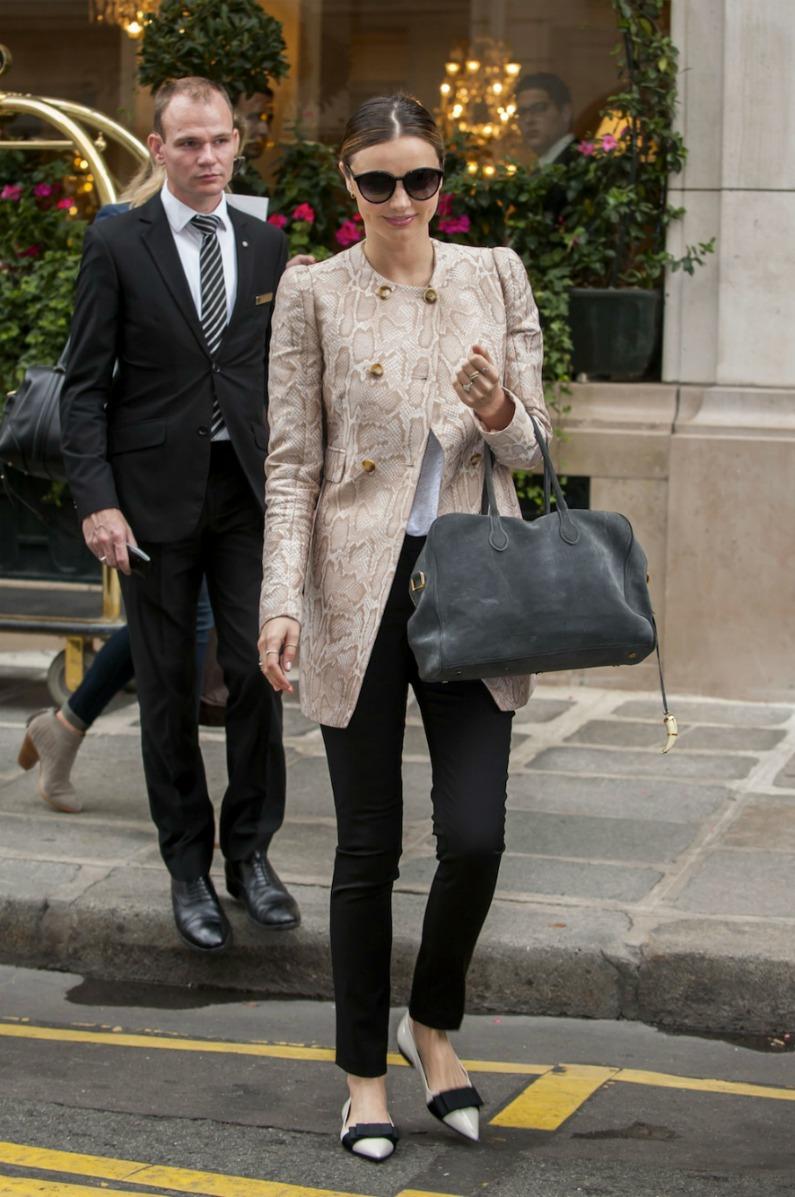 Miranda Kerr in black pants