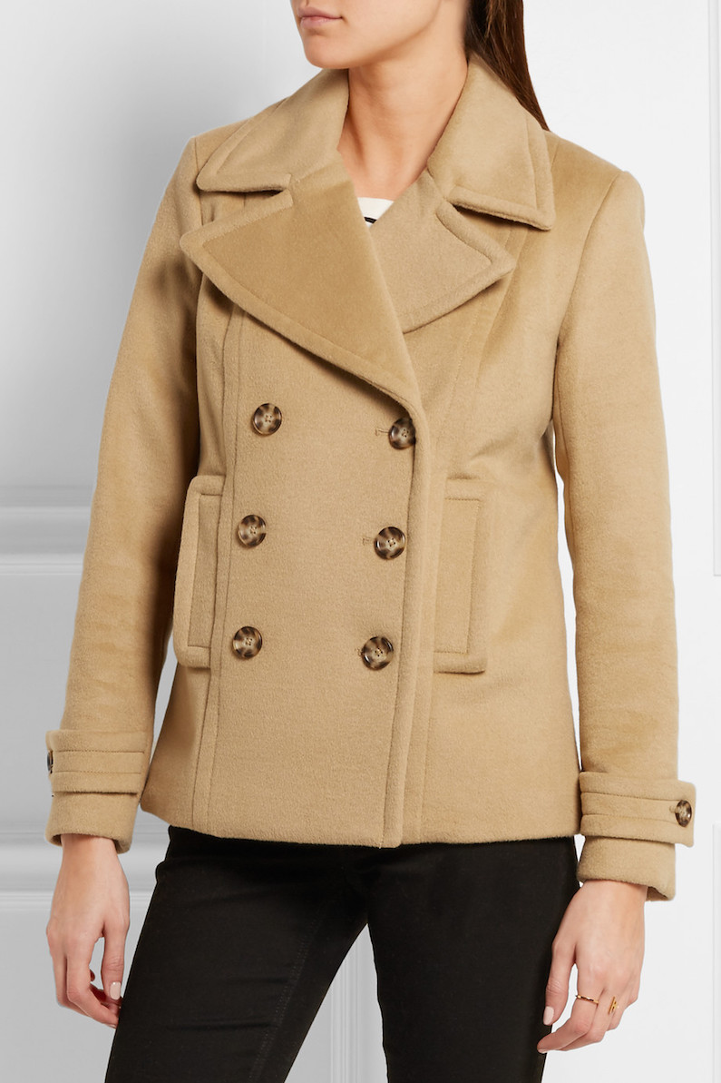 MICHAEL KORS Double-breasted wool-blend peacoat