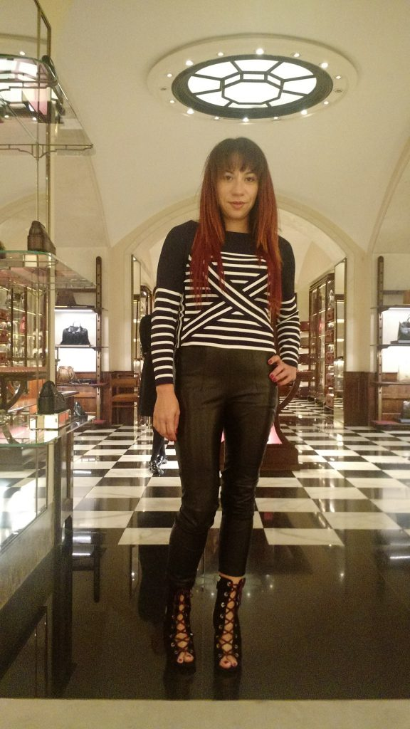 Elena @ Milano Prada store