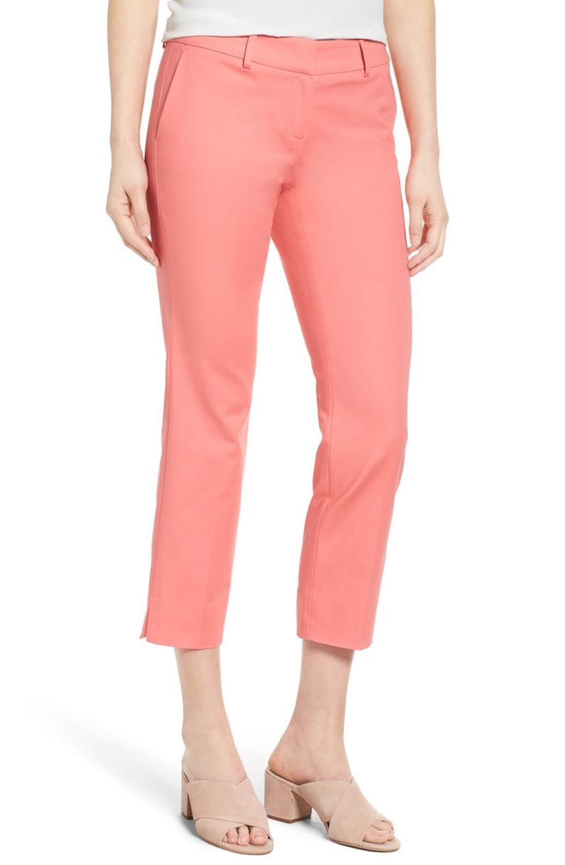 Halogen® Crop Stretch Cotton Pants