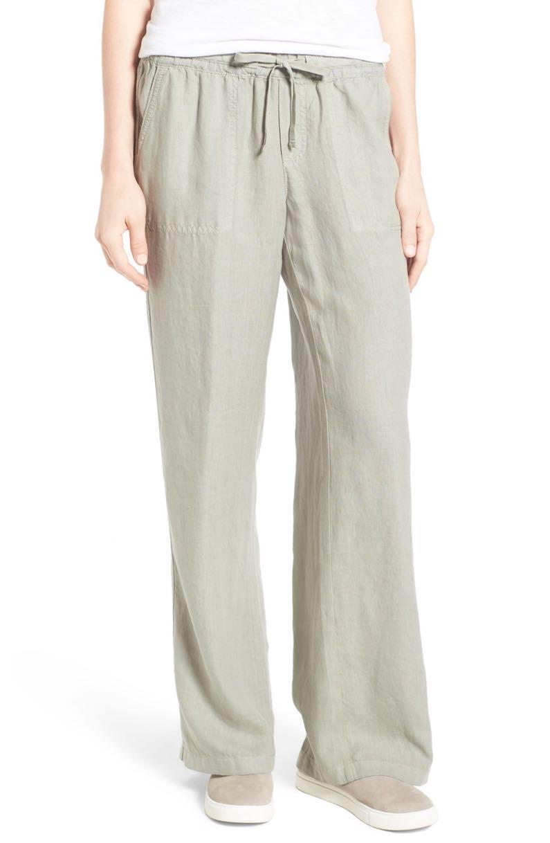 Caslon® Drawstring Linen Pants