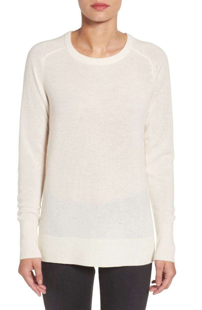 Halogen® Crewneck Lightweight Cashmere Sweater