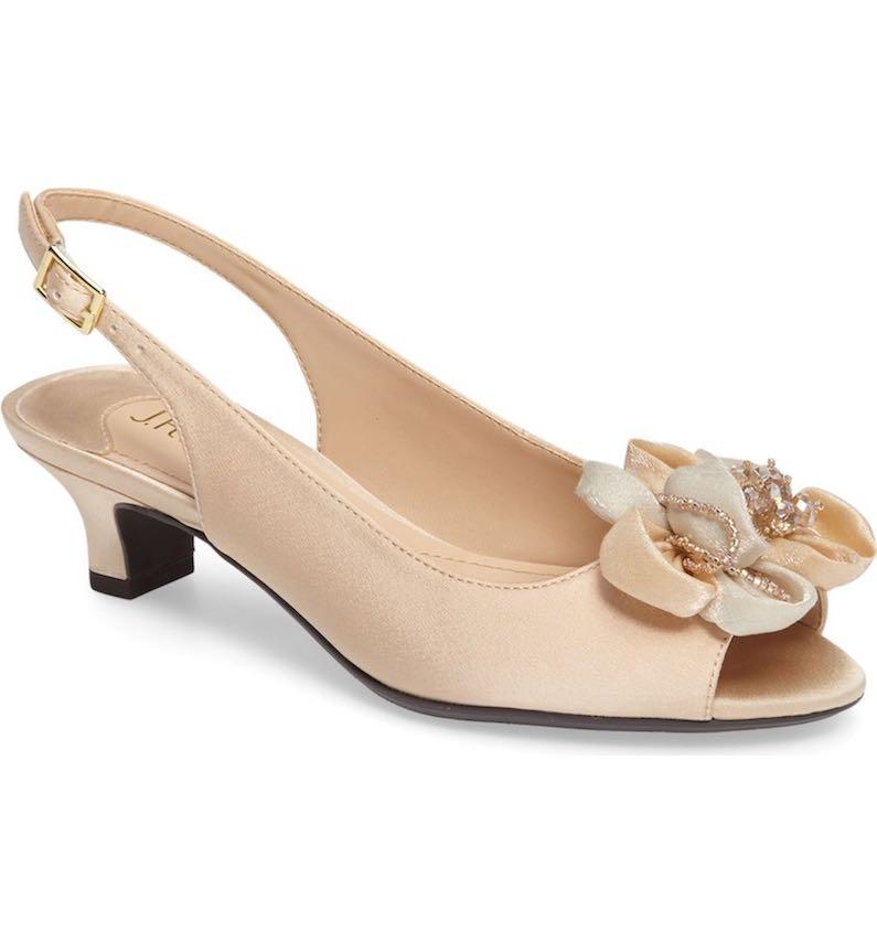 J. Reneé Leone Slingback Crystal Embellished Sandal