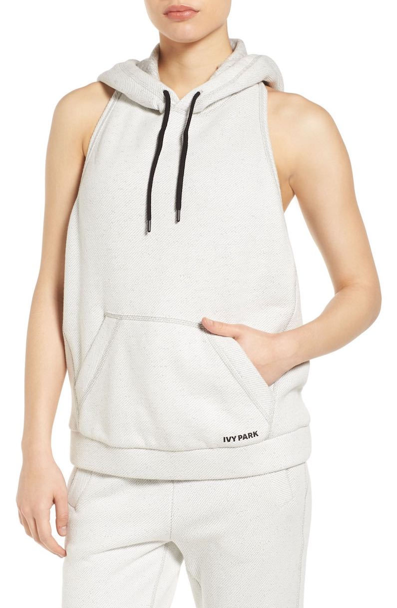 athleisure sales IVY PARK Backless Sleeveless Hoodie