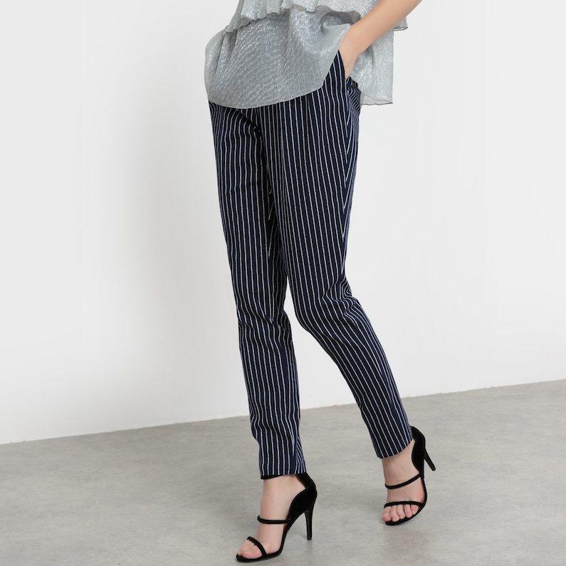 R édition Striped Peg Trousers