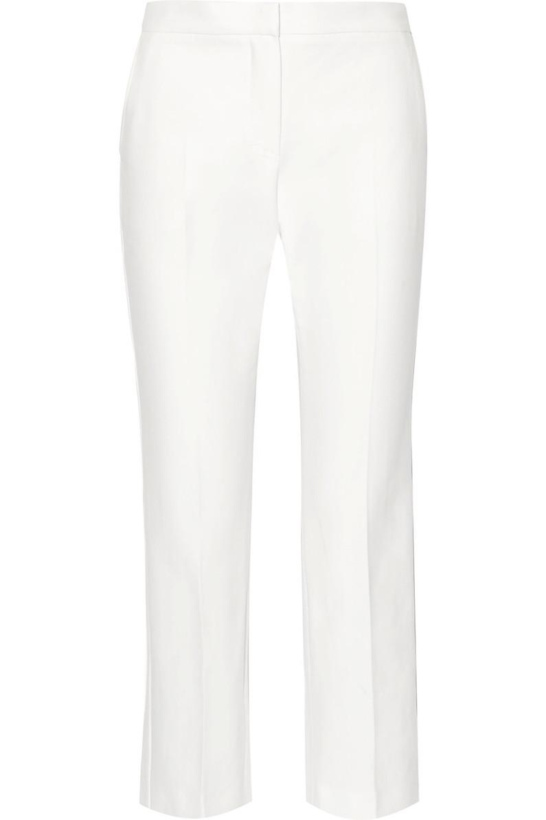 MAX MARA Cropped cotton-twill straight-leg pants