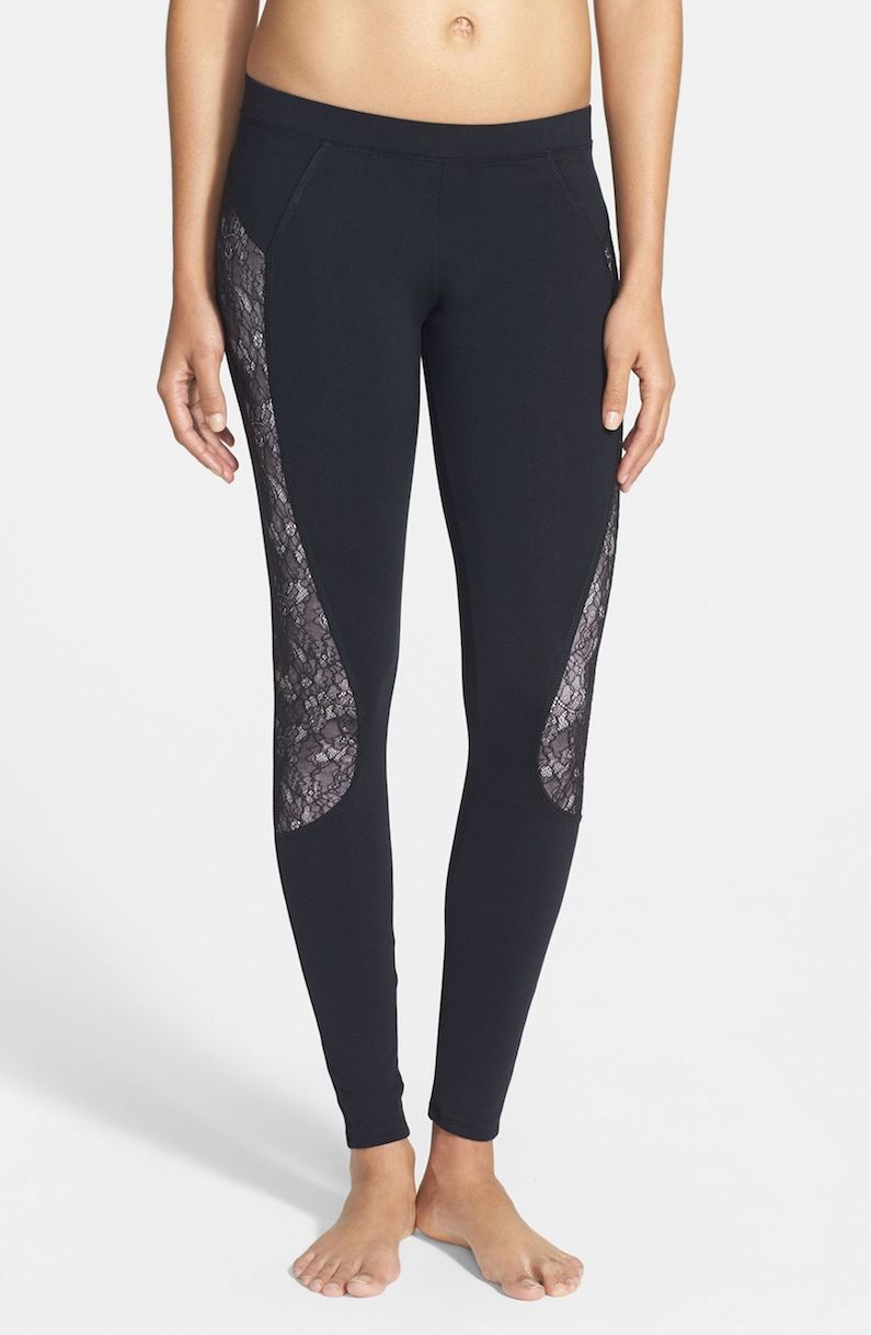 Solow Lace Inset Leggings