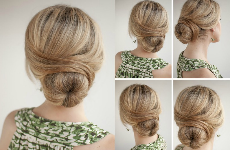 4 Super Easy Hairstyles For Work With A Donut Bun Pinkfo