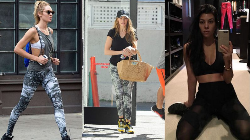 Celebrities gym clothes athleisure