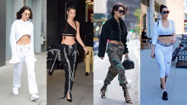 bella hadid rate her outfits